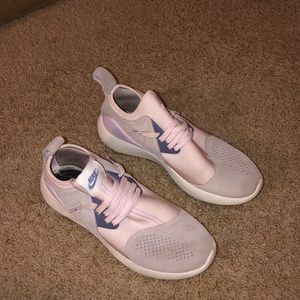Light pink and gray women's Nike's